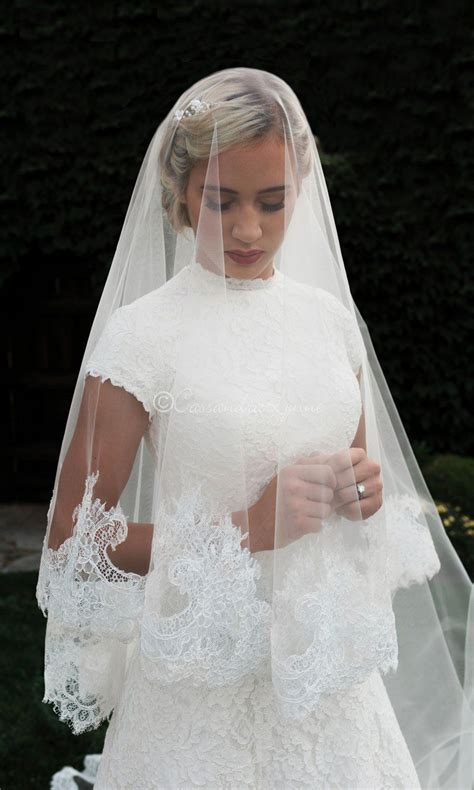 Royal Mantilla Ivory Veil With Chantilly Lace In 2019