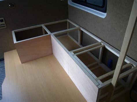 pin  whimsigal  camping van bed campervan interior