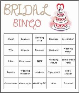 7 best images of bridal shower bingo games free printables With wedding shower card printable free