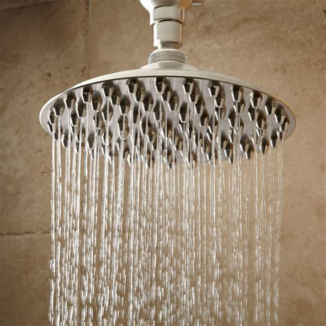 shower heads bostonian rainfall nozzle shower with s type arm