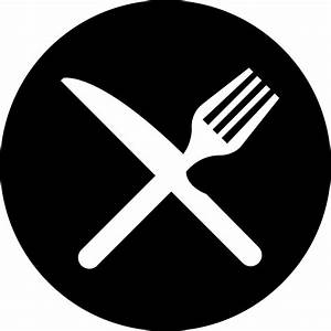 Cross Of Fork And Knife On A Plate To Not Eat Svg Png Icon ...