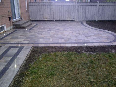 interlocking patio designs bancheri bros backyard patio design contractor project ideas