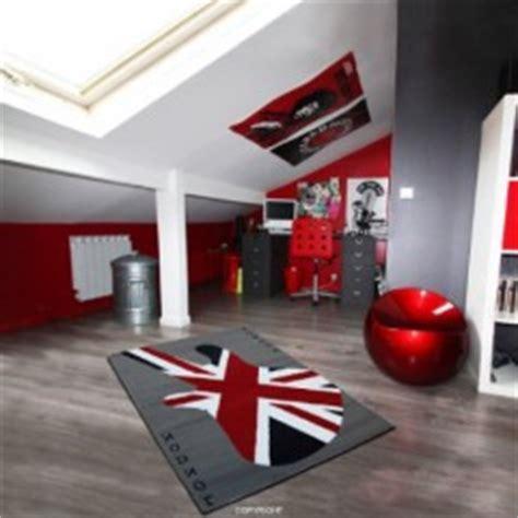 tapis chambre gar輟n pas cher tapis deco anglaise drapeau union pour prot ger le sol tapis