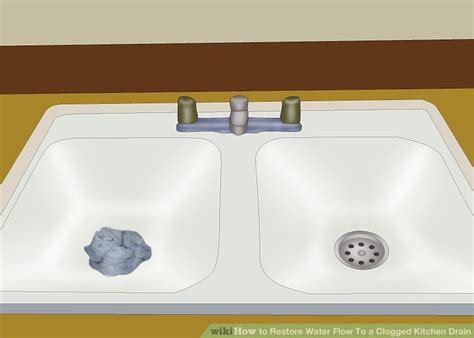 clogged sink drain kitchen how to restore water flow to a clogged kitchen drain 15 steps 5494