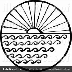Vintage Black and White Beach Clipart