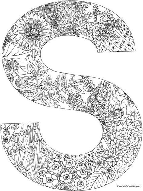 Kleurplaat Mandala Letters by Pin Harma Postma Op Coloring Pages Alphabeth