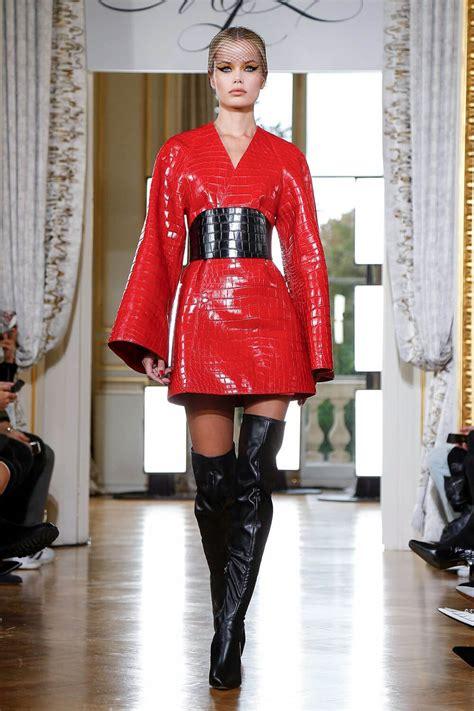 frida aasen  mjz spring  fashionshow leather