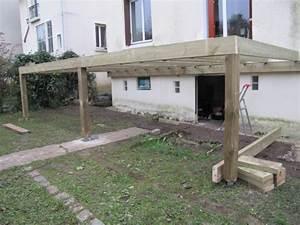 construction terrasse en bois sur pilotis With comment faire une terrasse bois sur pilotis