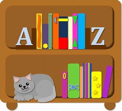 Bookshelf Clipart Bookcase Bookshelves Clip Shelf Cartoon