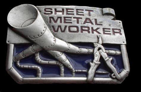 sheet metal worker belt buckle