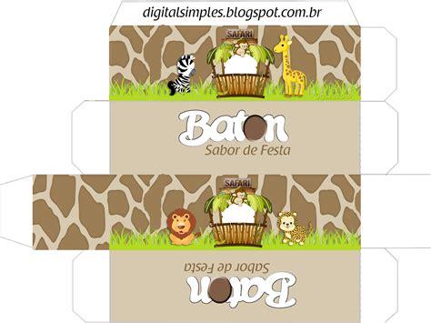 safari bebes invitaciones  cajas  imprimir gratis