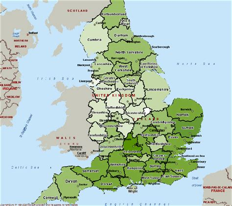 map  counties  england  travel information