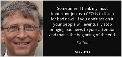 bill gates quote      important job