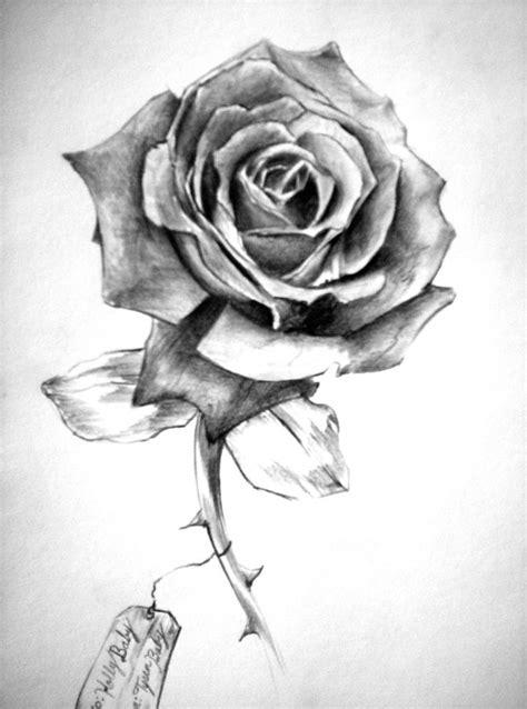 Rose Drawings | Rose / Custom Tattoo Designs / Tysen's Portfolio / Free Tattoo Designs