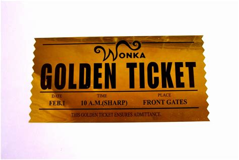 Golden Ticket Printable Template by 5 Printable Willy Wonka Golden Ticket Template Muewx
