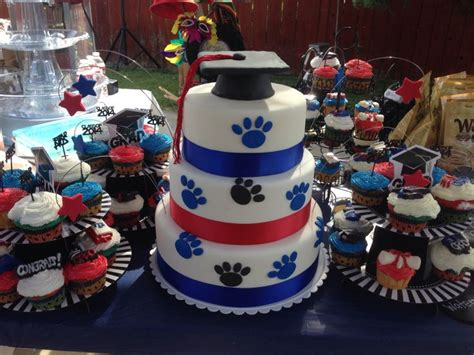 fresno state graduation cake  items pinterest