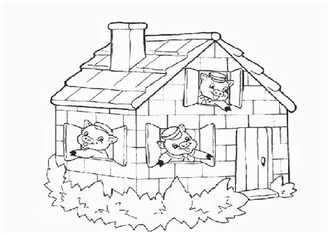 Three Little Pigs Coloring Pages Eskayalitim