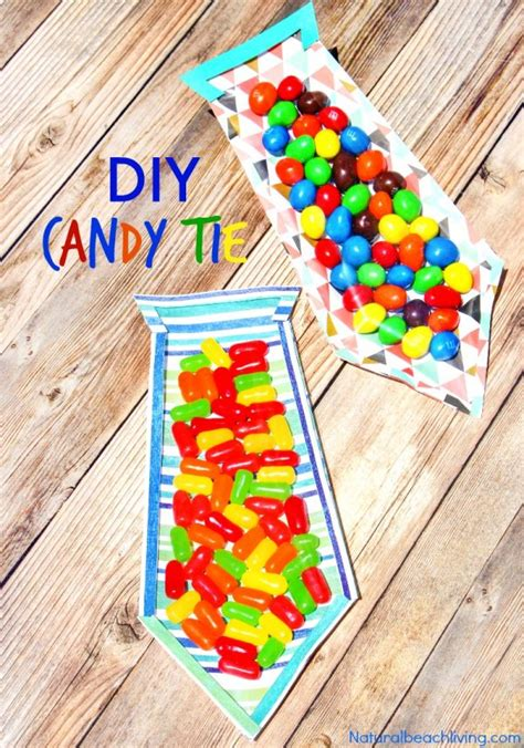 25 s day gifts preschoolers can make 202   Fathers Day Candy Tie pin3t 600x856