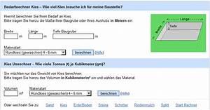 Kies Berechnen : erstes bestellportal f r bausch ttg ter ist zu einem viertel ausgebucht baustoffe ~ Themetempest.com Abrechnung