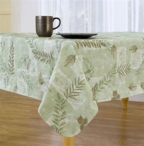 flannel backed vinyl tablecloth boxed fern flannel backed vinyl tablecloth indoor outdoor 9595