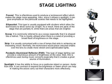 types of stage lights auditorium lighting