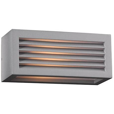 maxfield silver 15 quot high led outdoor wall light 5x233
