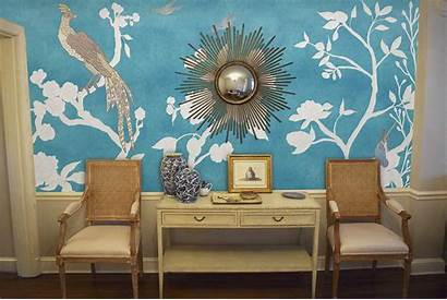 Chinoiserie Mural Paneling Panels Casartcoverings Traditional