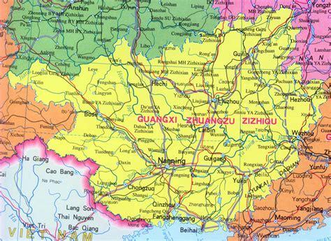 Map Of Guangxi Province China Travel Map