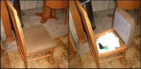 rv storage ideas dining chair rv mod made simple