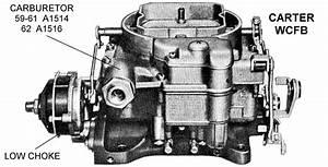 Carter Wcfb Carburetor  Low Choke - Diagram View
