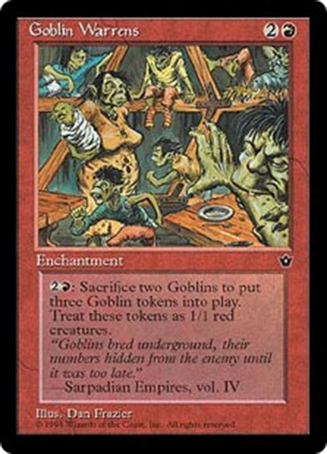 Goblin Token Commander Deck by Goblin Warrens Masters Edition Iv Gatherer Magic