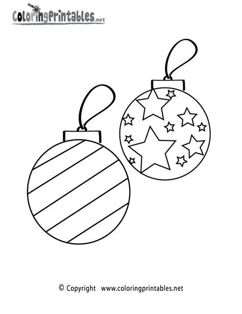 christmas ornaments coloring page printable christmas
