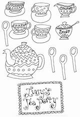 Coloring Tea Printable Adult Teapot Patterns Coffee Teacup Sheets Printables Fancy Nancy Clip Afternoon Clipart Mad Cups Princess Hatter Pots sketch template