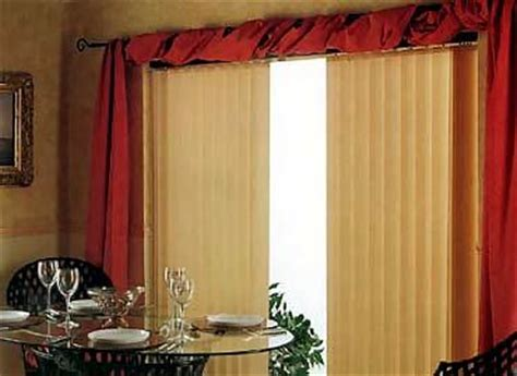 vertical blinds and curtains together the top