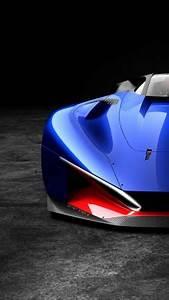 Wallpaper Peugeot L500 R HYbrid, supercar, blue, Cars