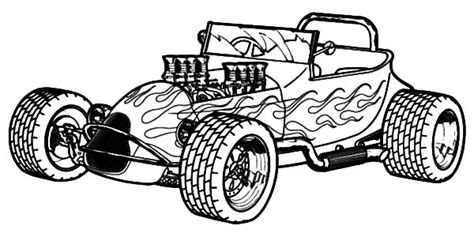 Pencil And In Color Drawn Car Rat Rod