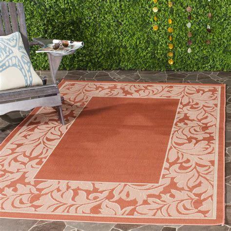 indoor outdoor area rugs safavieh courtyard terracotta 8 ft x 11 ft