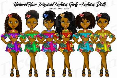 Clipart Hair Natural Tropical Dolls Graphics Designer