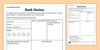 book review worksheet activity sheet amazing fact a