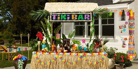 tiki party theme tiki party supplies decorations