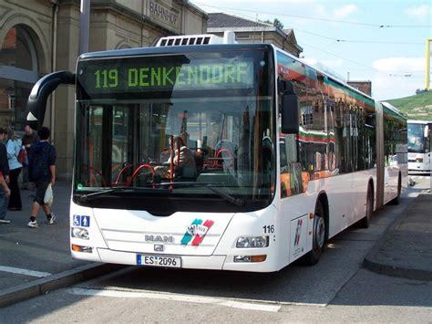 Einer Der Drei Lion's City Gelenkbusse In Esslingen Hier