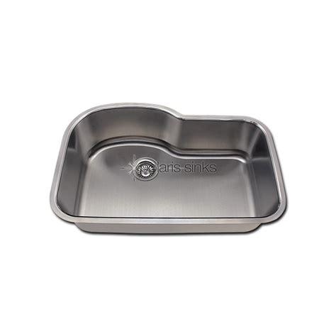 single bowl kitchen sink with offset drain polaris p643 undermount offset single bowl stainless steel 9765