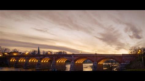 The old brick bridge across the Venta river. Kuldīgas senais ķieģeļu tilts pār Ventas upi. - YouTube