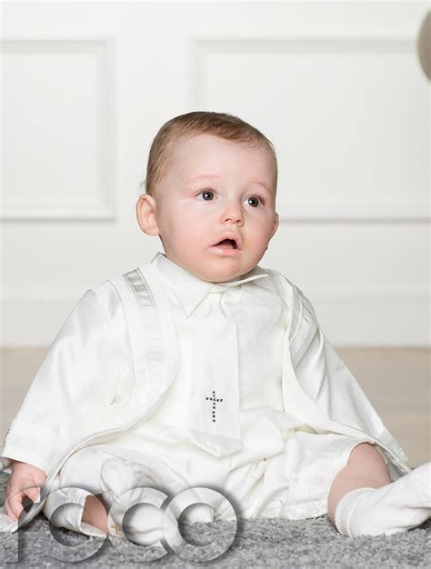 Boys Ivory Christening Outfit Baby Boy Rompers Christening Outfis for Boys | eBay