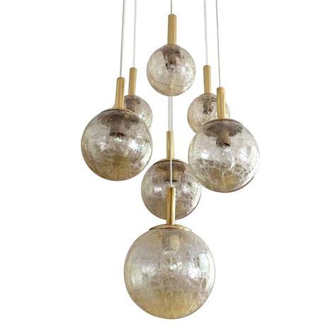 large doria tier glass globes chandelier modernist