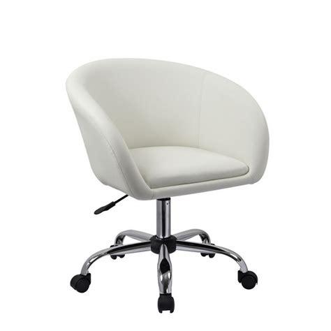 fauteuil bureau blanc fauteuil à tabouret chaise de bureau blanc