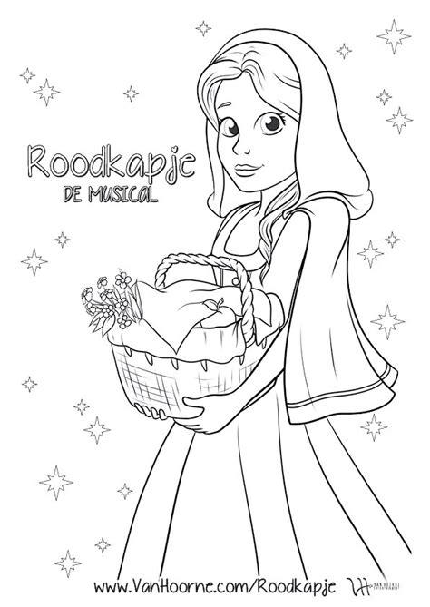 De Gelaarsde Kleurplaat by Roodkapje De Musical Kleurplaat Hoorne