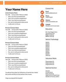 microsoft resume templates free template for resume in word