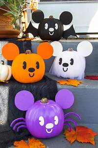 diy mickey pumpkins disney family