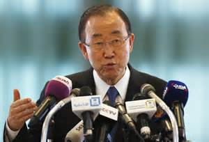 UN chief Ban Ki-moon arrives in Baghdad for security talks ...